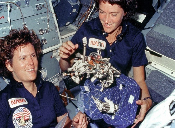 Sally Ride in space