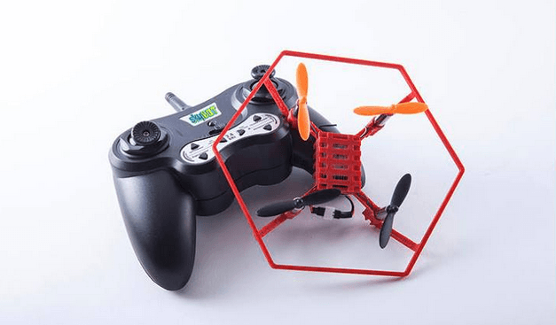 SkyBot drone with controller