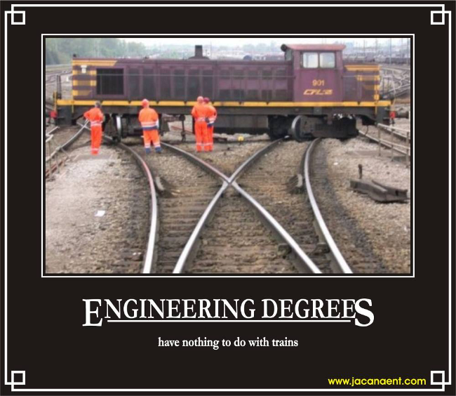 Engineering degrees have nothing to do with trains