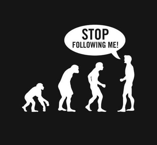 Biologist meme, exasperated theory of evolution
