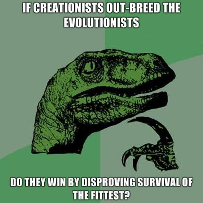 Biologist meme, The dilemma that ended dinosaurs' cognitive thought.