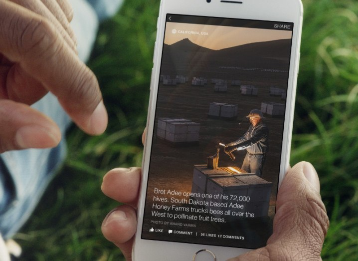 Facebook Instant Articles displaying on smartphone