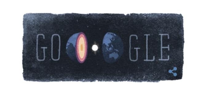 Inge Lehmann Google doodle of Earth's core