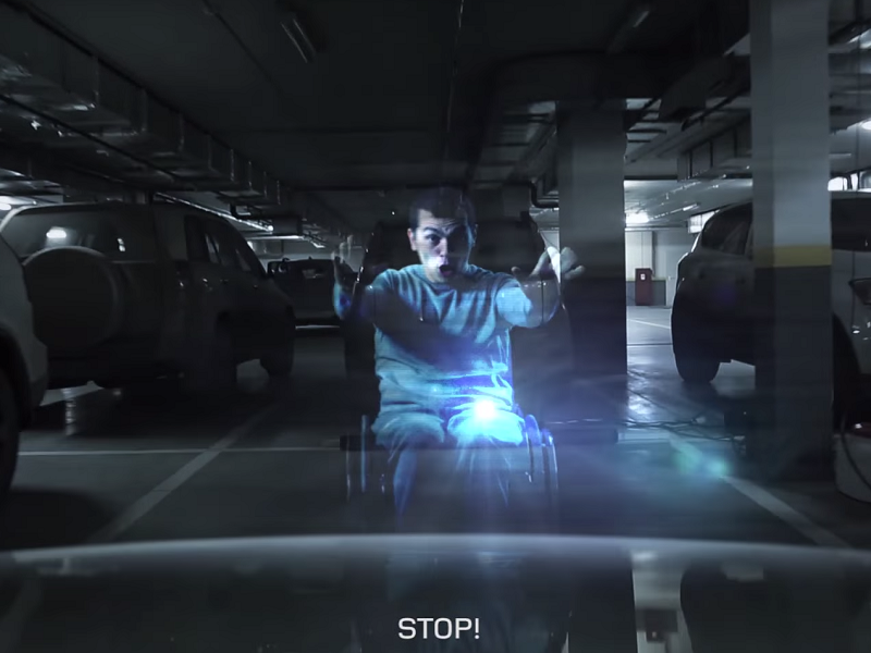 Holograms now berate people illegally parking in disabled bays