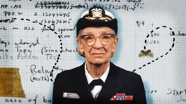 Coding pioneer Grace Hopper in a still from Code: Debugging the Gender Gap, which will see its Irish premiere at Inspirefest Fringe