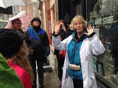 Mary Mulvihill leads an Ingenious Ireland walking tour