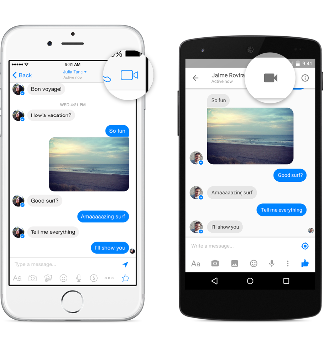 Facebook Video Call on Messenger