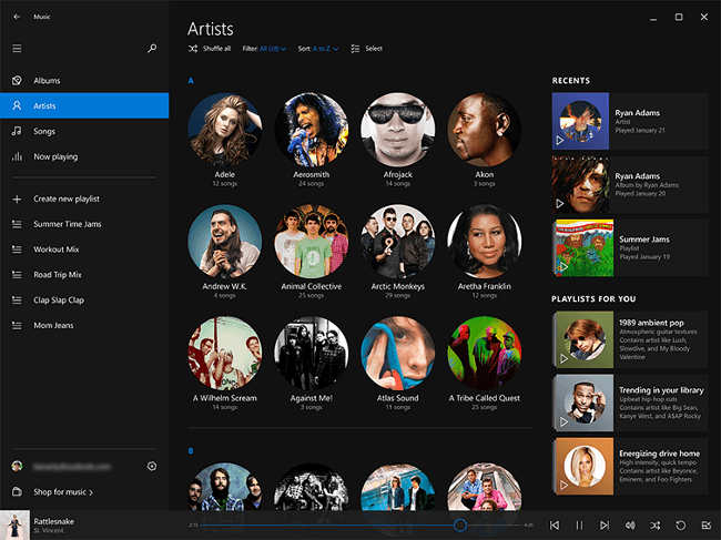 A glimpse at Microsoft's new music and video app for Windows 10