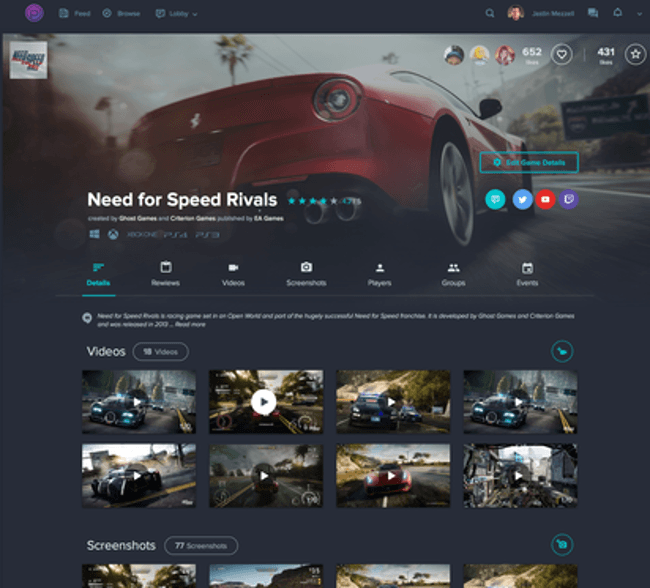 Player.me is a new social platform that allows all gamers to communicate on one platform