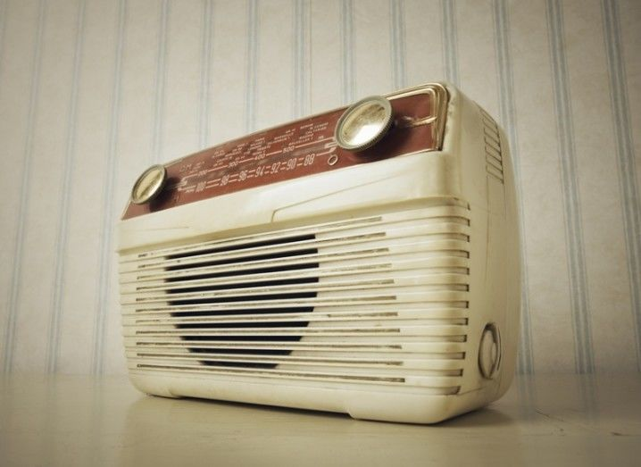 Vintage radio image via Shutterstock