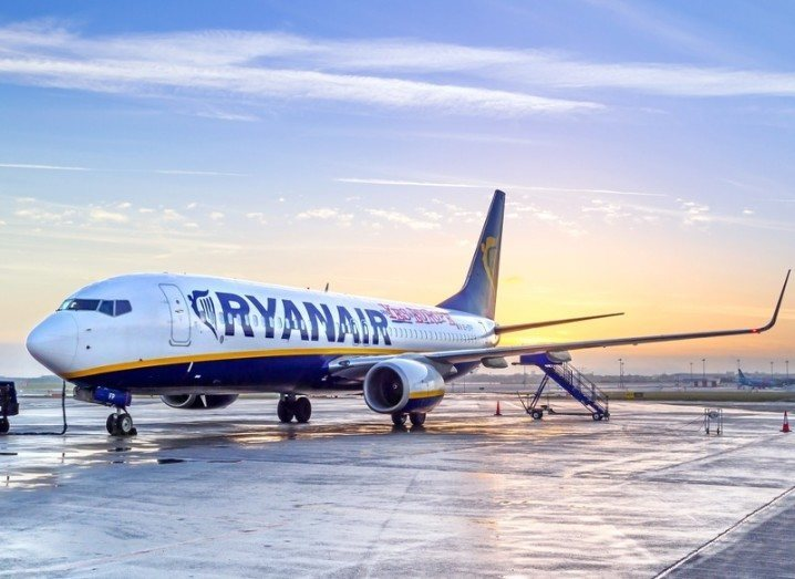 Ryanair plane on tarmac
