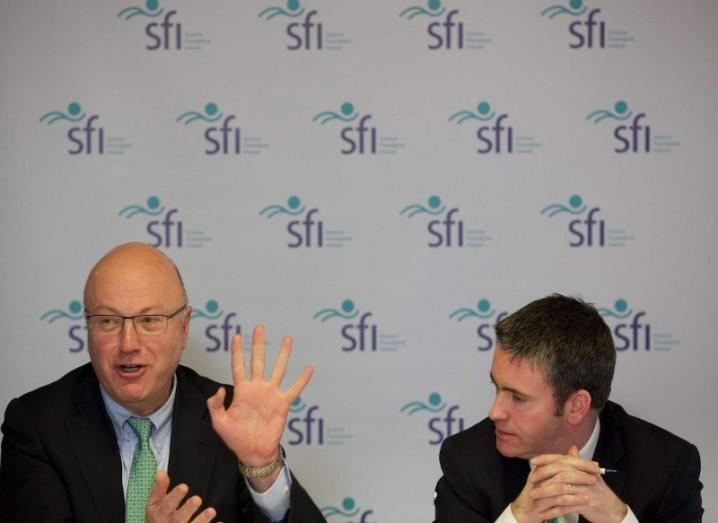 SFI director Mark Ferguson and Minister for Innovation Damien English TD