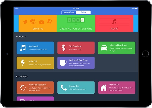 Best apps for iOS: Workflow