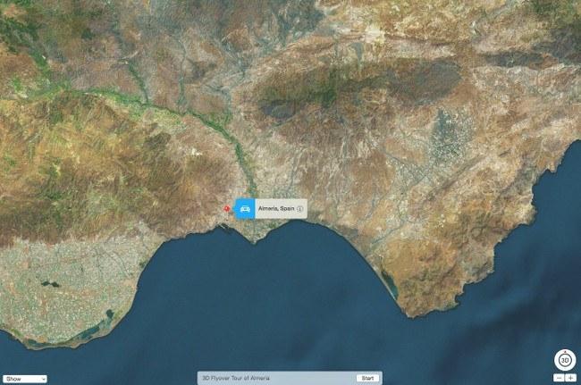 Almeria - Apple Flyover Maps