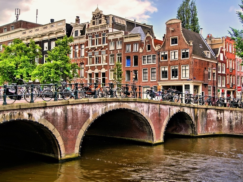 A company is 3D printing a bridge across an Amsterdam canal