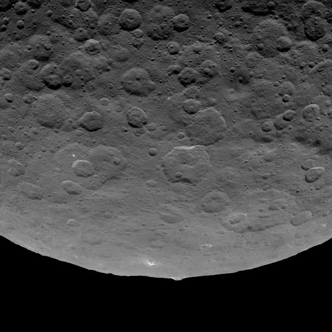 Profile of Ceres's mountain