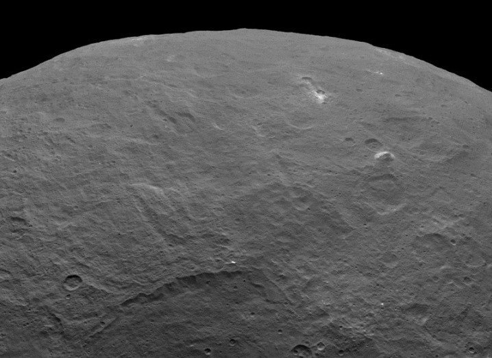 Mountain appearing on surface of Ceres