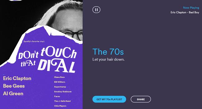 Spotify Rewind 1970s