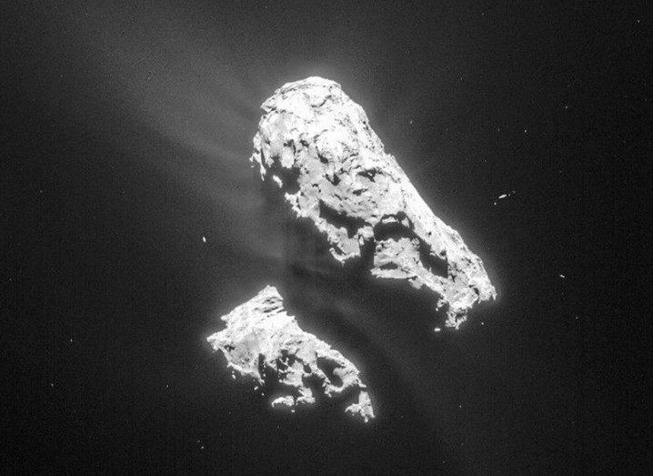 Comet 67P, as seen by Rosetta in February