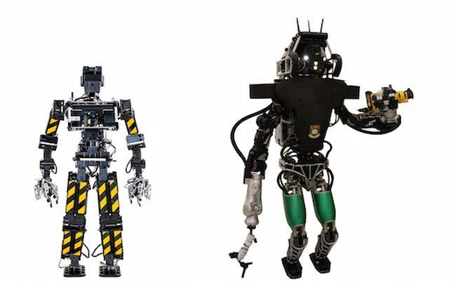 DARPA Robotics Challenge contenders: Johnny 05 and  Atlas