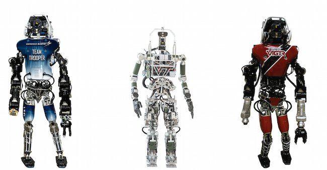 DARPA Robotics Challenge, Leo, Escher and Florian.
