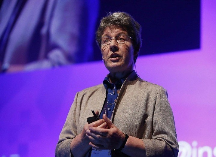 Dame Jocelyn Bell Burnell speaking at Inspirefest 2015