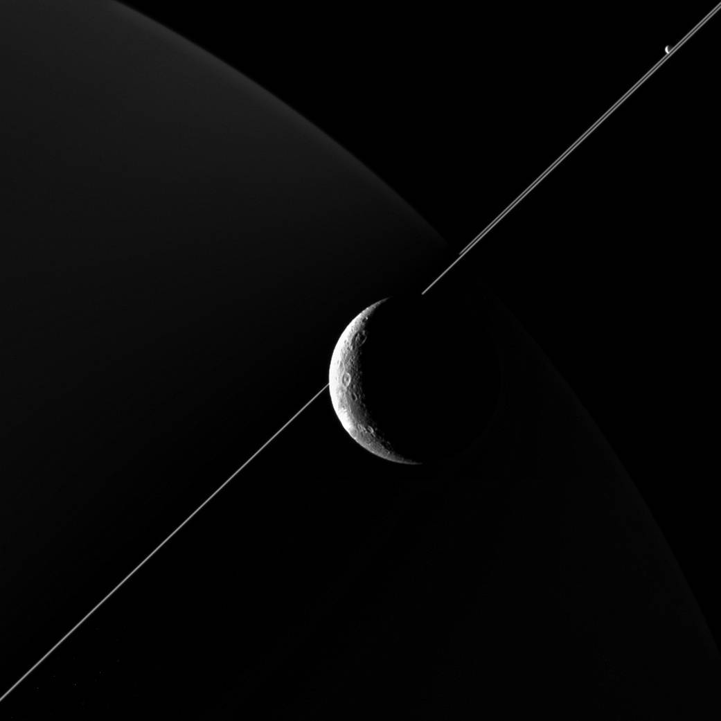 Saturn's moon Dione - Space Photography
