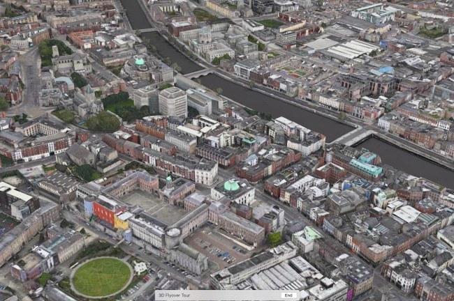 Dublin - Apple Flyover Map