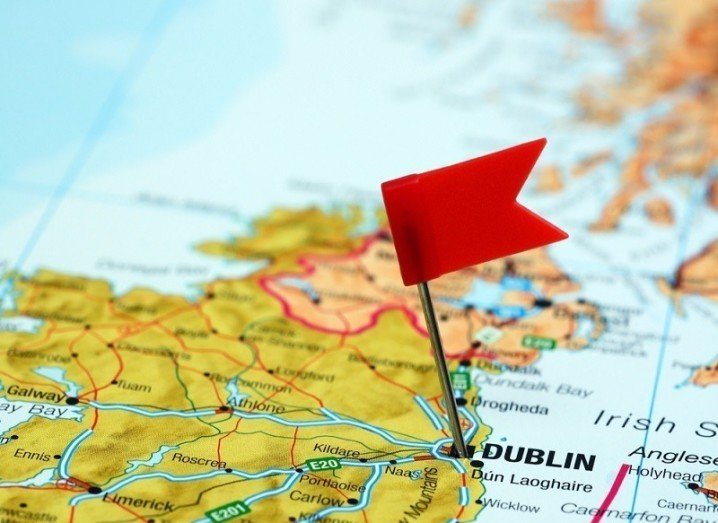 Dublin pinned on map