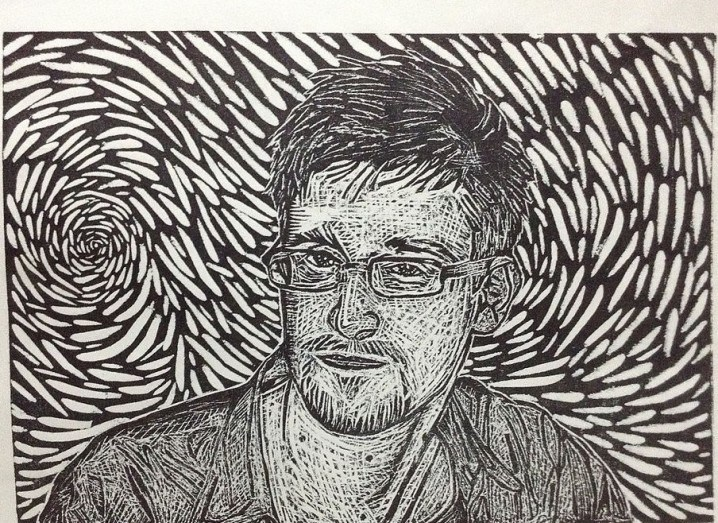 Sketch of Edward Snowden