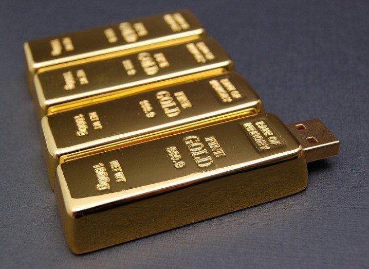 Gold bar USBs