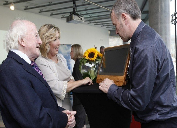 President Higgins with iameco directors