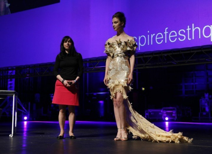 The Butterfly Dress, which was rigged with an Intel Galileo board