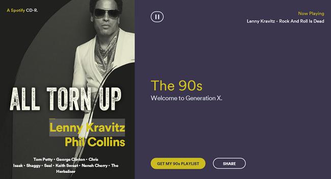 Spotify Rewind 1990s