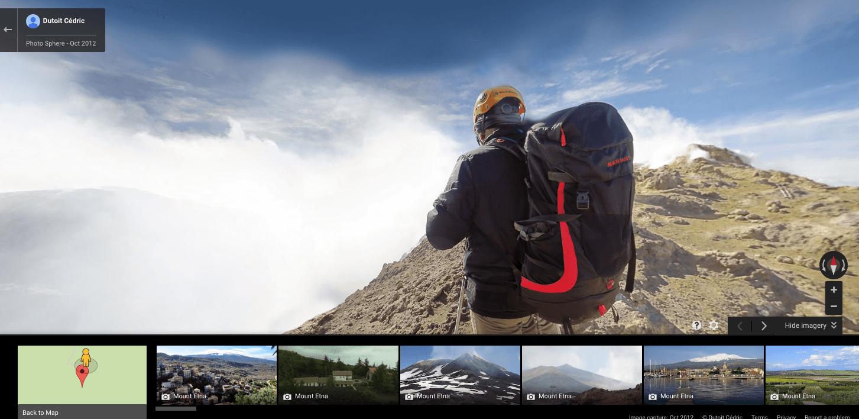 Mount Etna Erupts - Mount Etna's summit