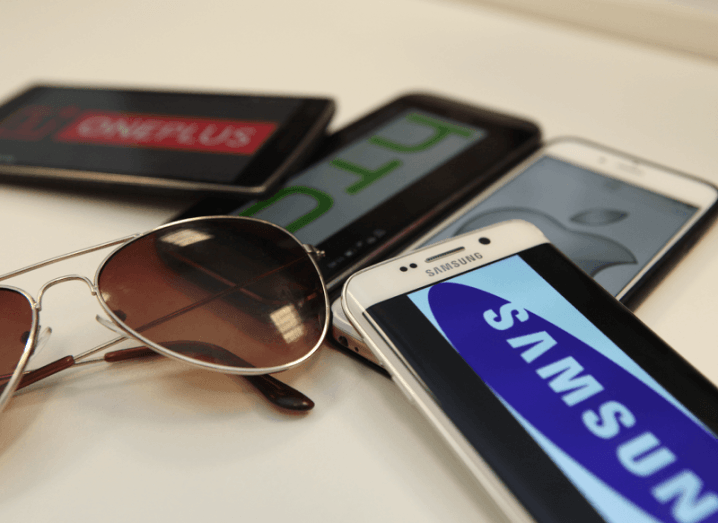 HTC One M9, Samsung Galaxy 6 Edge, Apple iPhone 6 and the OnePlus One