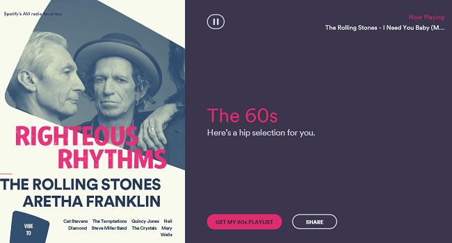 Spotify Rewind 1960s