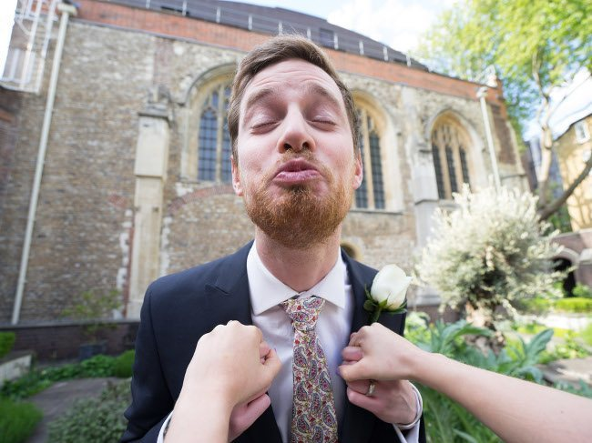 Wedding footage - A bride's view of the groom, if that's your thing, via Mikael Buck