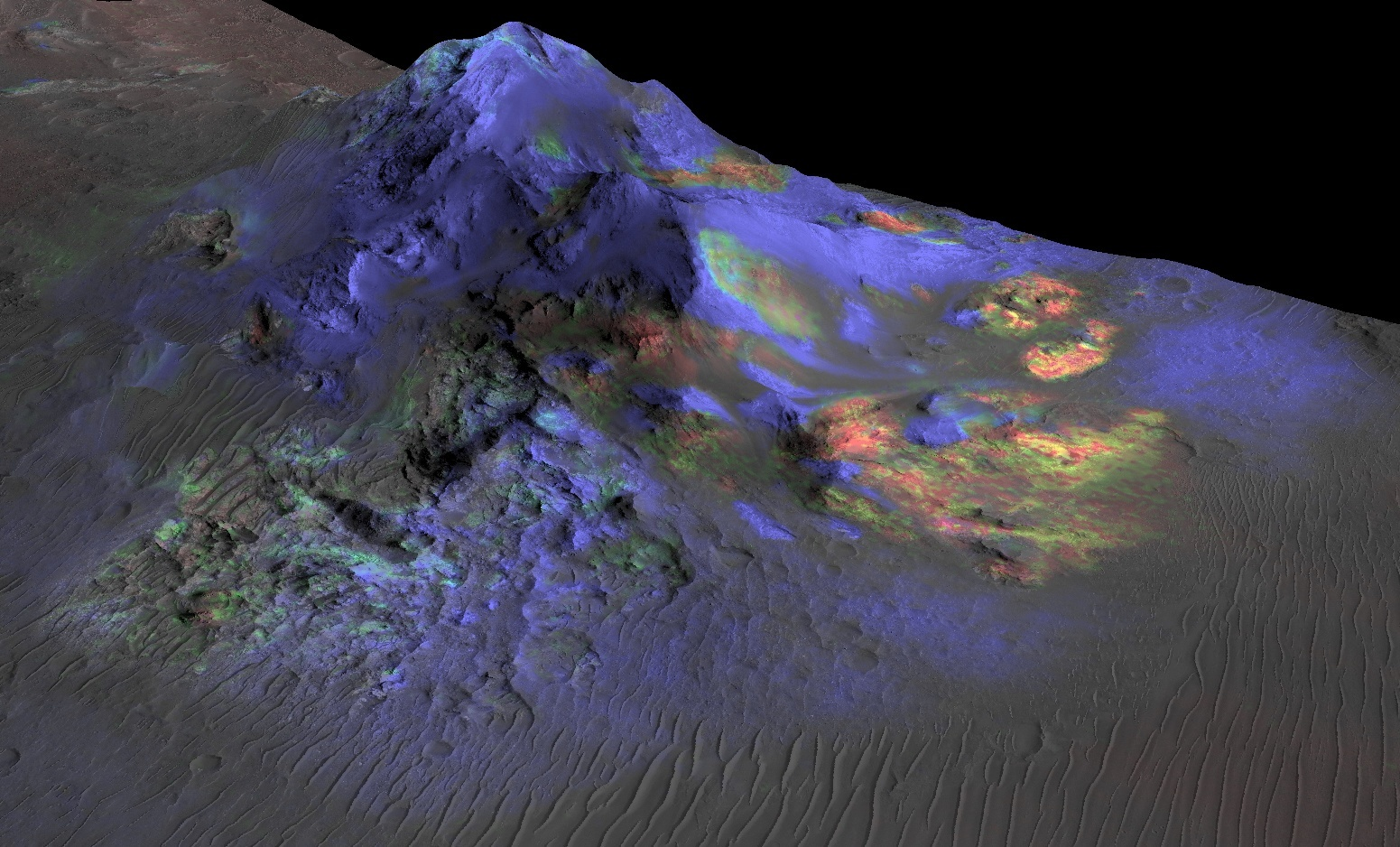 The Martian surface is covered in glass and could show signs of past life