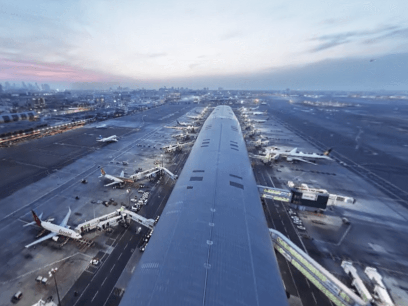 Dubai Airport in world's first 8K 360-degree video
