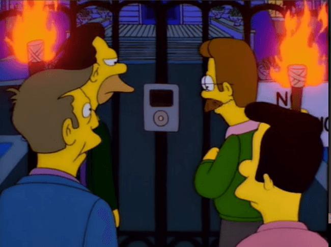 Simpsons iPod screen