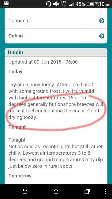 Screenshot taken from Met.ie