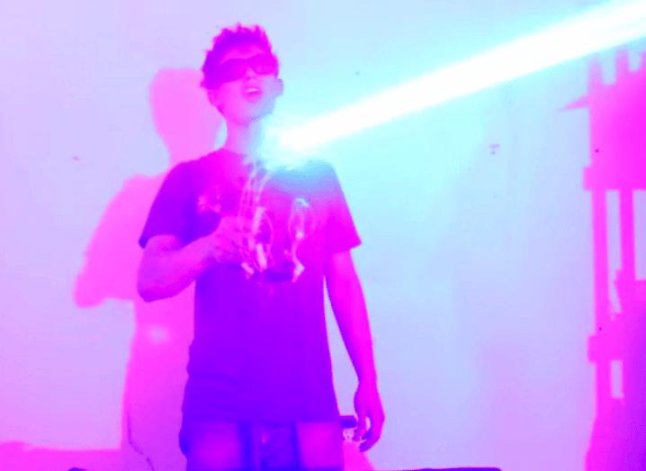 Laser shotgun demo