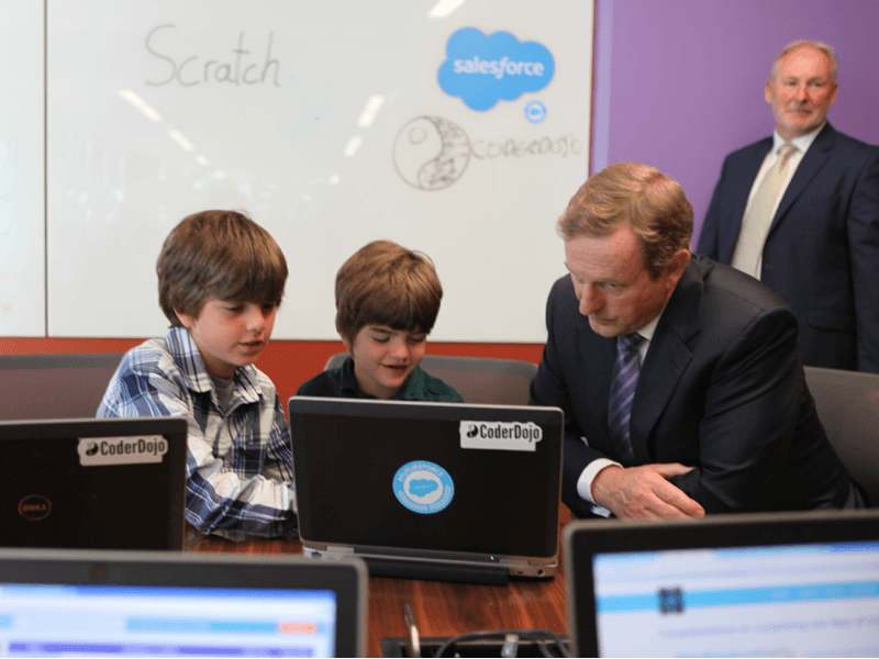 Salesforce ensures its own future with CoderDojo and Citywise connections
