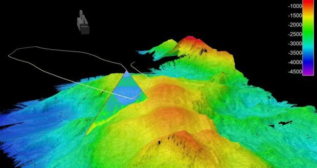 The Atlantic Ocean's newly-mapped seabed