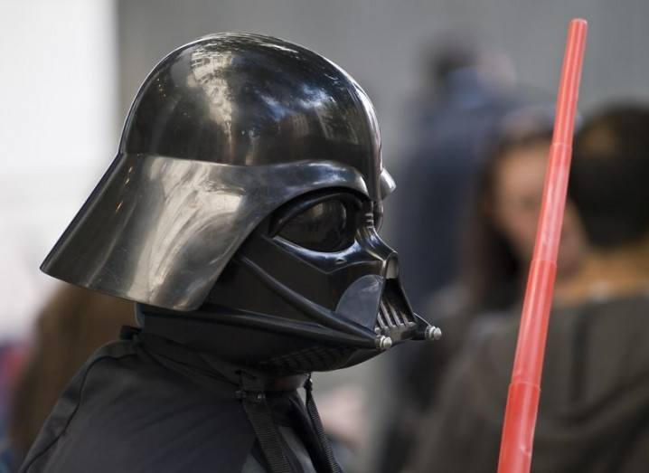 Darth Vader costume, with lightsaber