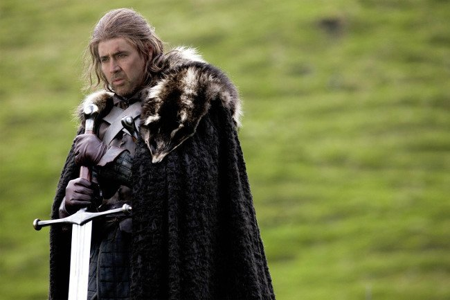Nicolas Cage as Eddard Stark in Game of Thrones cast
