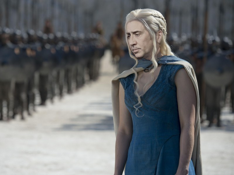 Nicolas Cage as every character in Game of Thrones is immense