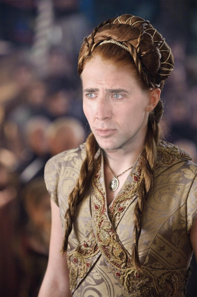 Nicolas Cage as Sansa Stark, Game of Thrones