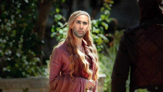 Nicolas Cage as Cersei Lannister, Game of Thrones cast